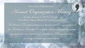 Organization Day- Jan 6th at 10:00am