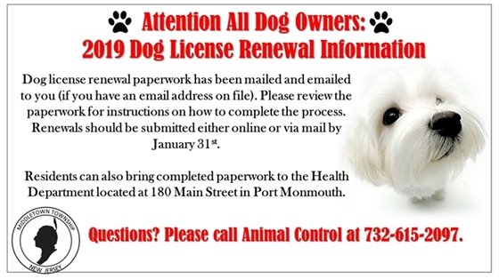 2019 Dog License Renewal