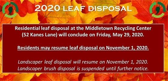 2020 Leaf Disposal