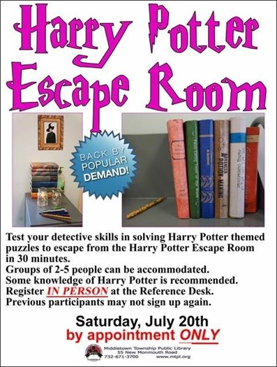 MTPL Presents Harry Potter Escape Room