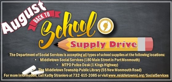 August Back to School Drive
