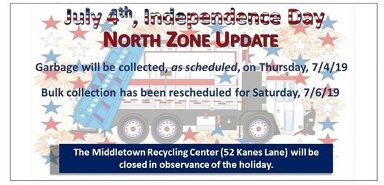 DPW Independence Day Collection Schedule