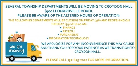 Final Departments Moving To Croydon Hall