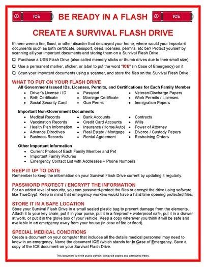Survival Flash Drive
