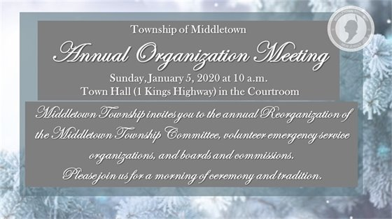 Annual Reorganization Meeting