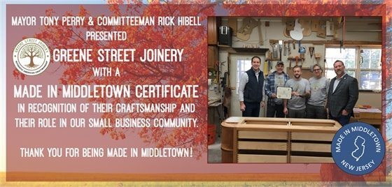 Greene Street Joinery-Made in Middletown