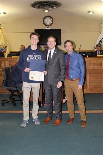 State High Jump Champion Mark Anselmi of Middletown High School South