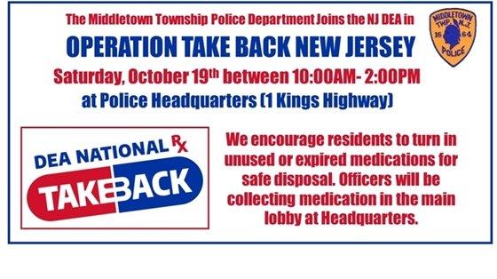 Operation Take Back NJ- October 19th