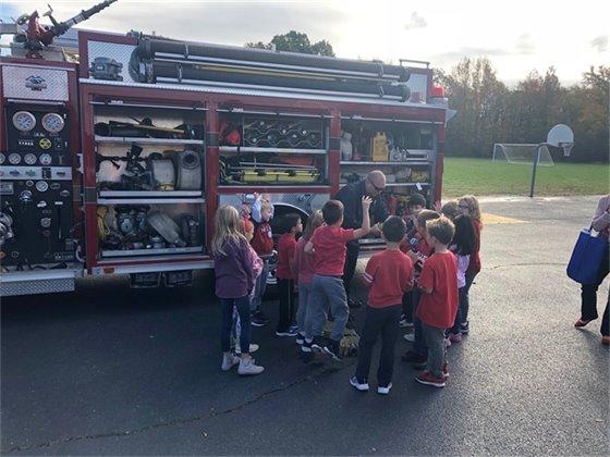 Fire Prevention Month at Leonardo Grade School