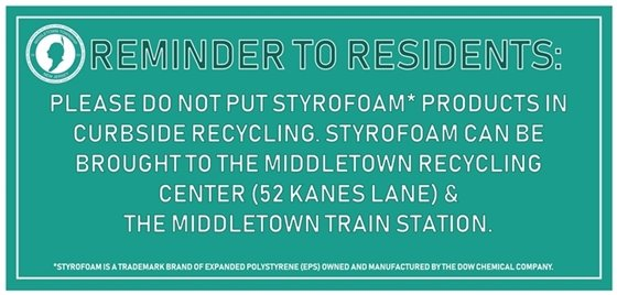 Styrofoam Reminder