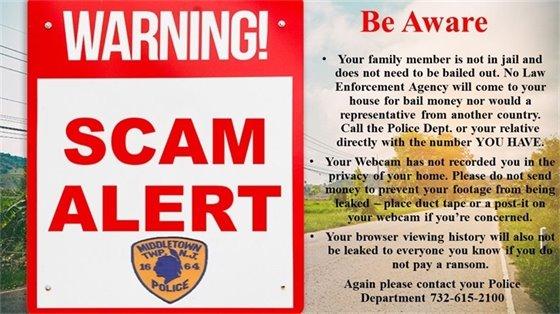 MTPD Scam Alert