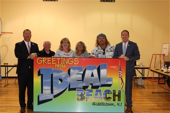 Greetings from Ideal Beach Sign