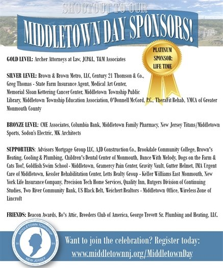 Middletown Day Sponsors Shout Out