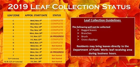 Leaf Collection Schedule