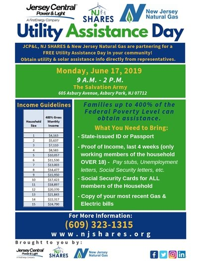 Utility Assistance Day- June 17th