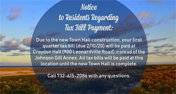 Notice to Residents Regarding Tax Bill Collection