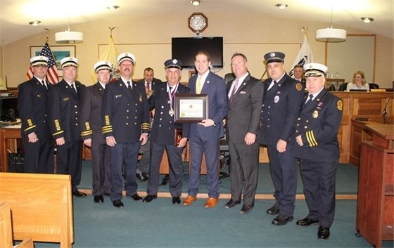 Firefighter Fred Gorsegner Receives 50 Year Service Award