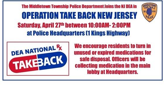 DEA National Take Back