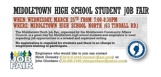 Community Affairs Council High School Student Job Fair