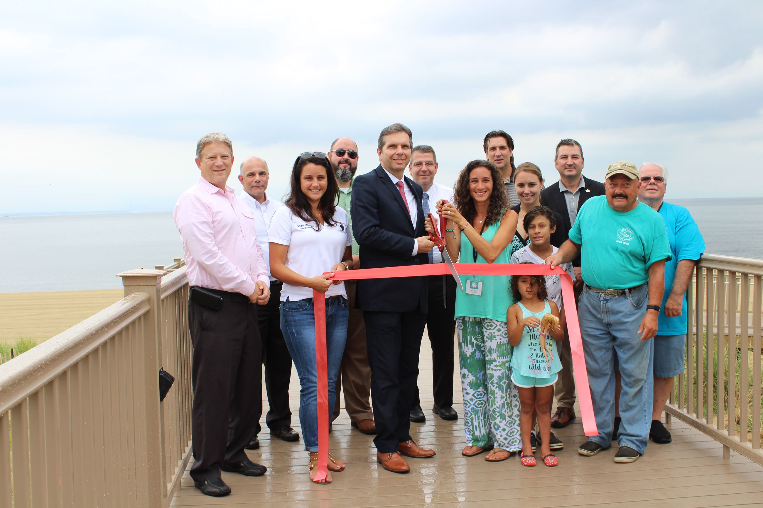 Ideal Beach Structured Pedestrian Access Ribbon Cutting Ceremony