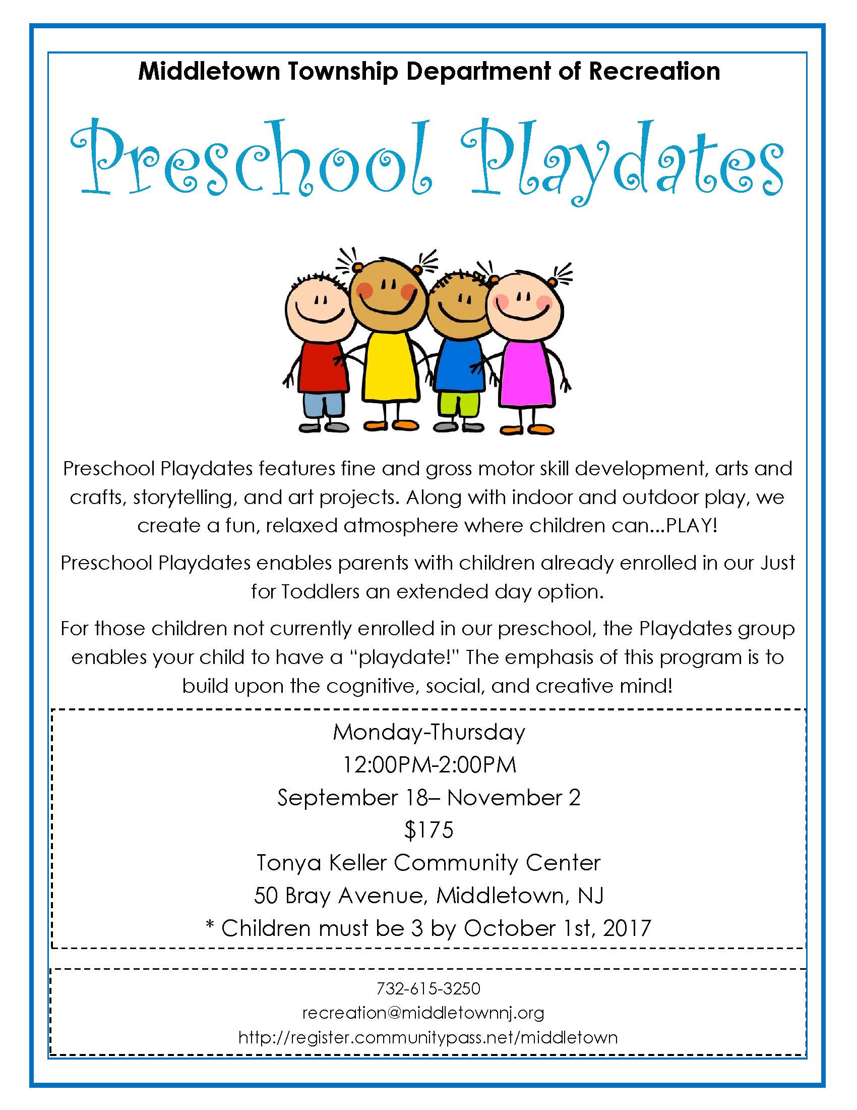 Preschool Playdates 2017