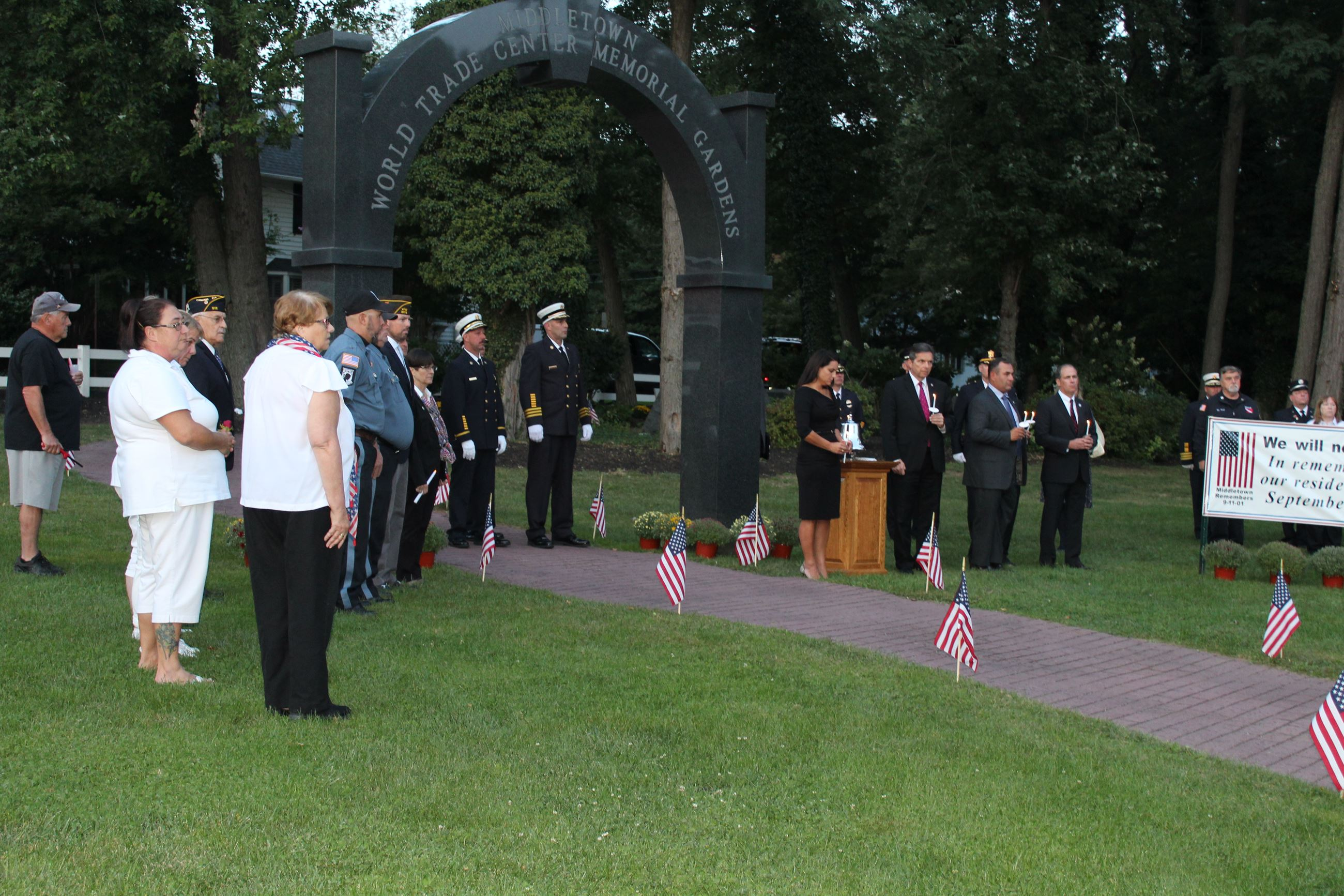 Township Committee at Candelit 9/11 Tribute