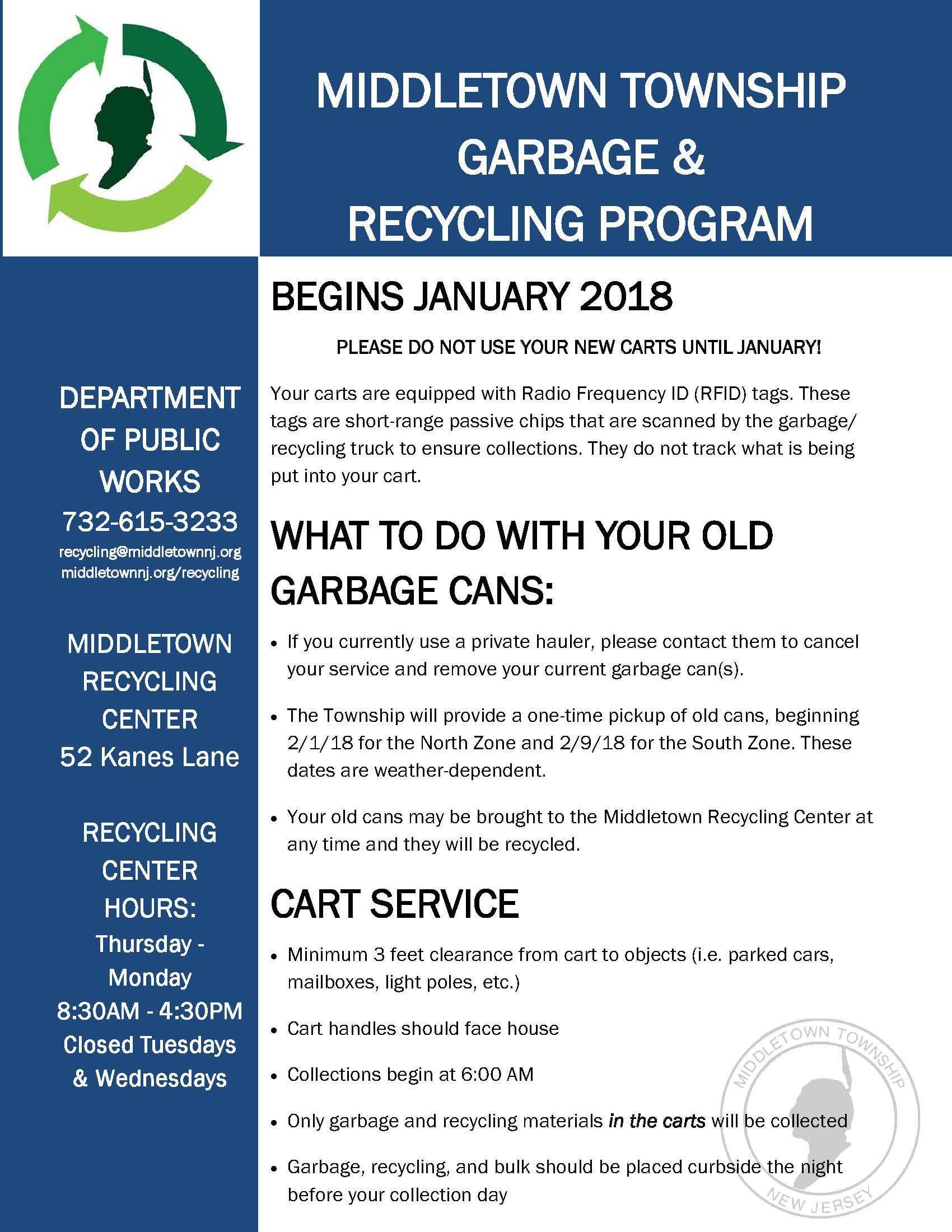 Middletown Garbage Information Flyer 2 (JPEG)