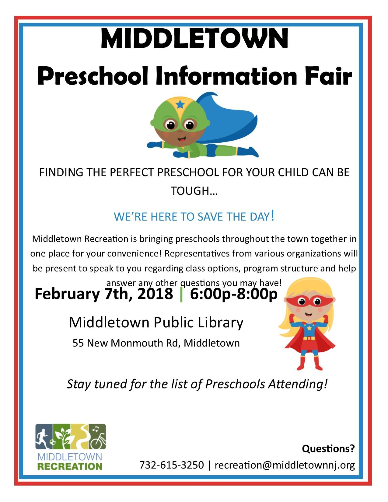 Preschool Information Fair Flyer 2018