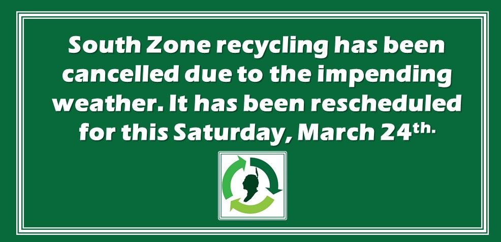 South zone recycling cancelled