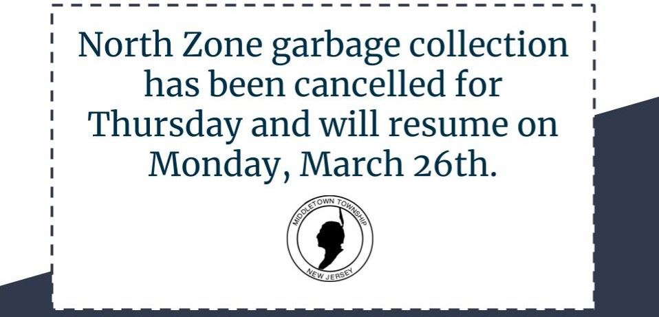 North Zone Garbage Collection Cancelled