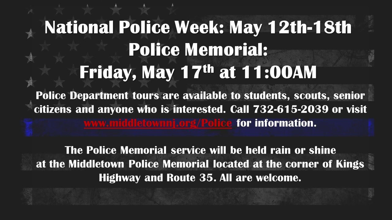 National Police Week 2019