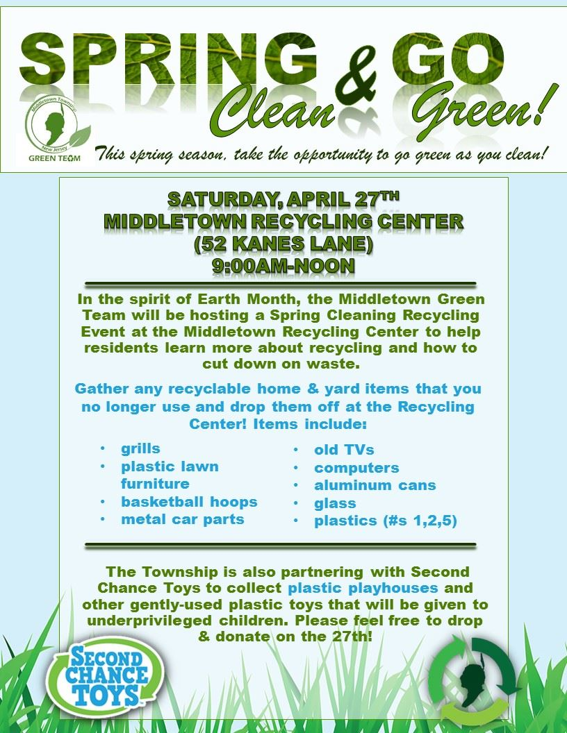 Recycling Event- April 27