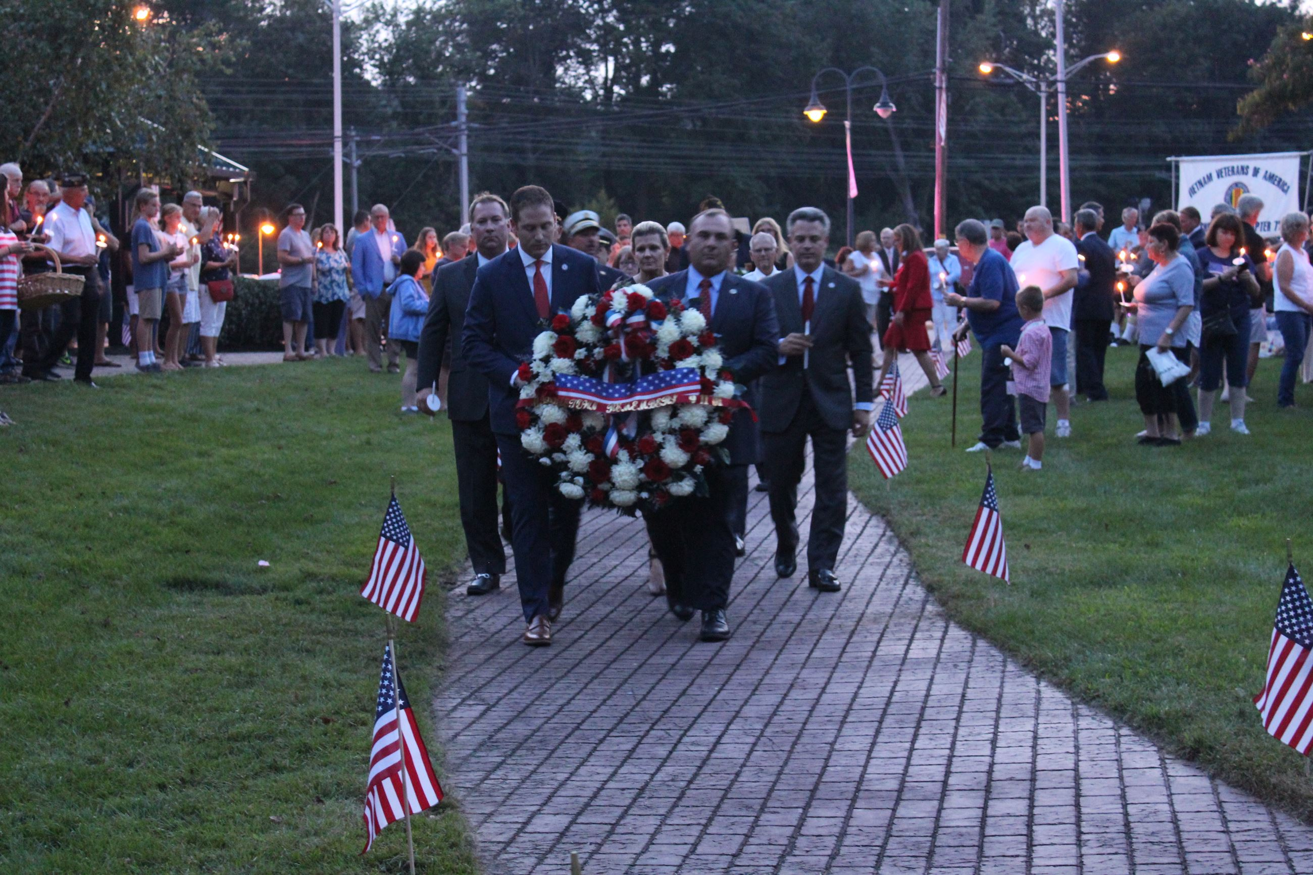 Wreath Laying at 9/11/19 Tribute