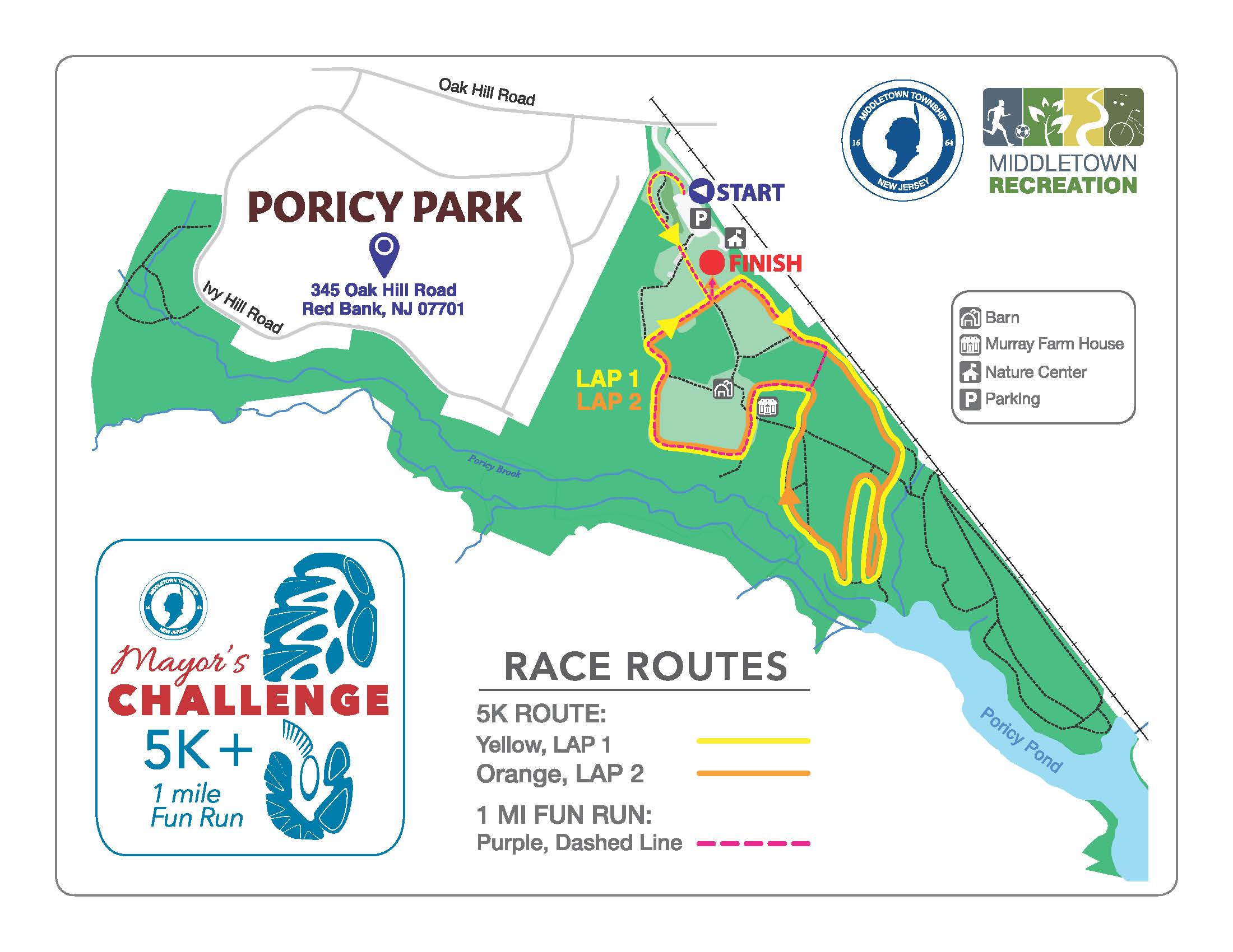 Mayor's Challenge Trail Map