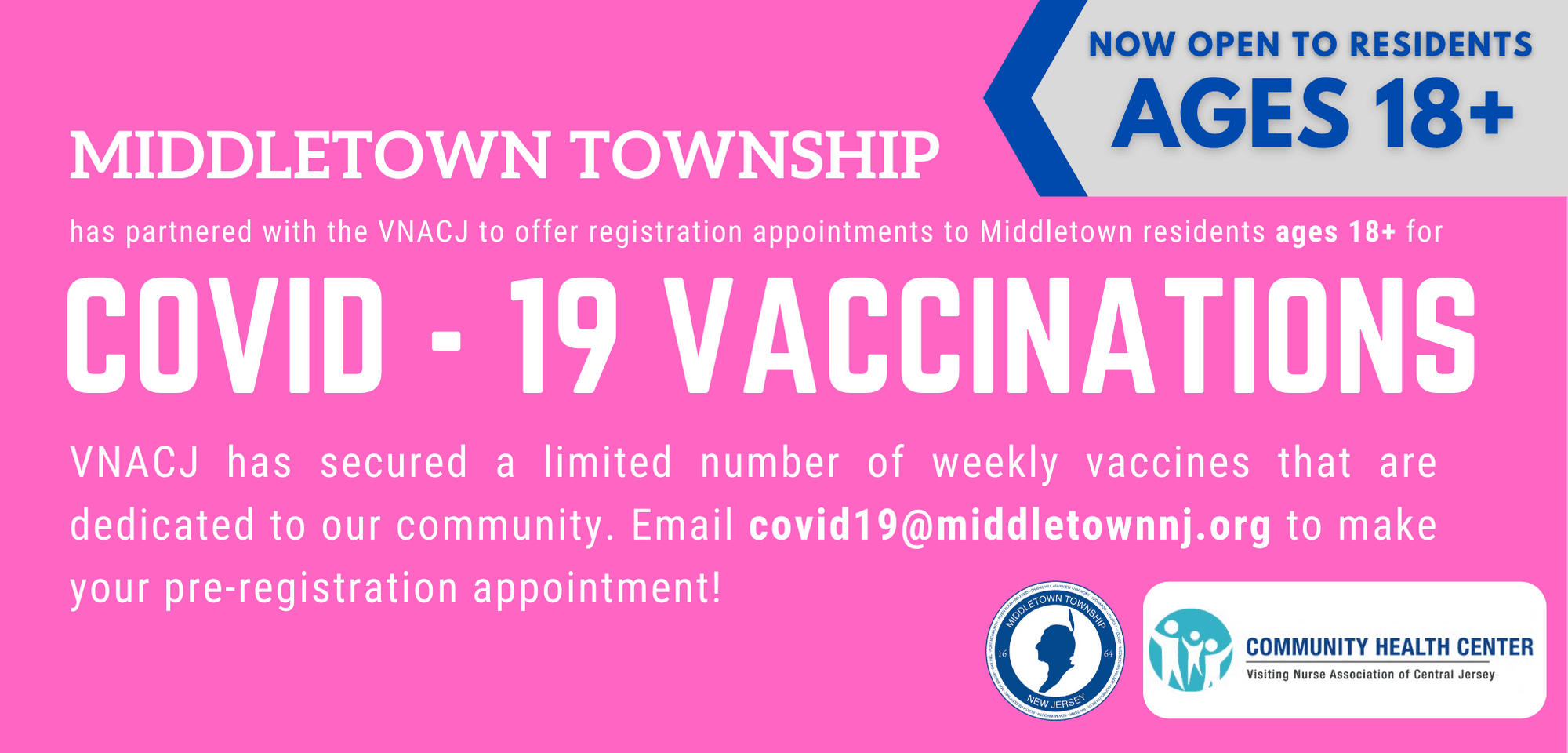 Middletown Township Vaccination Registrations_18plus