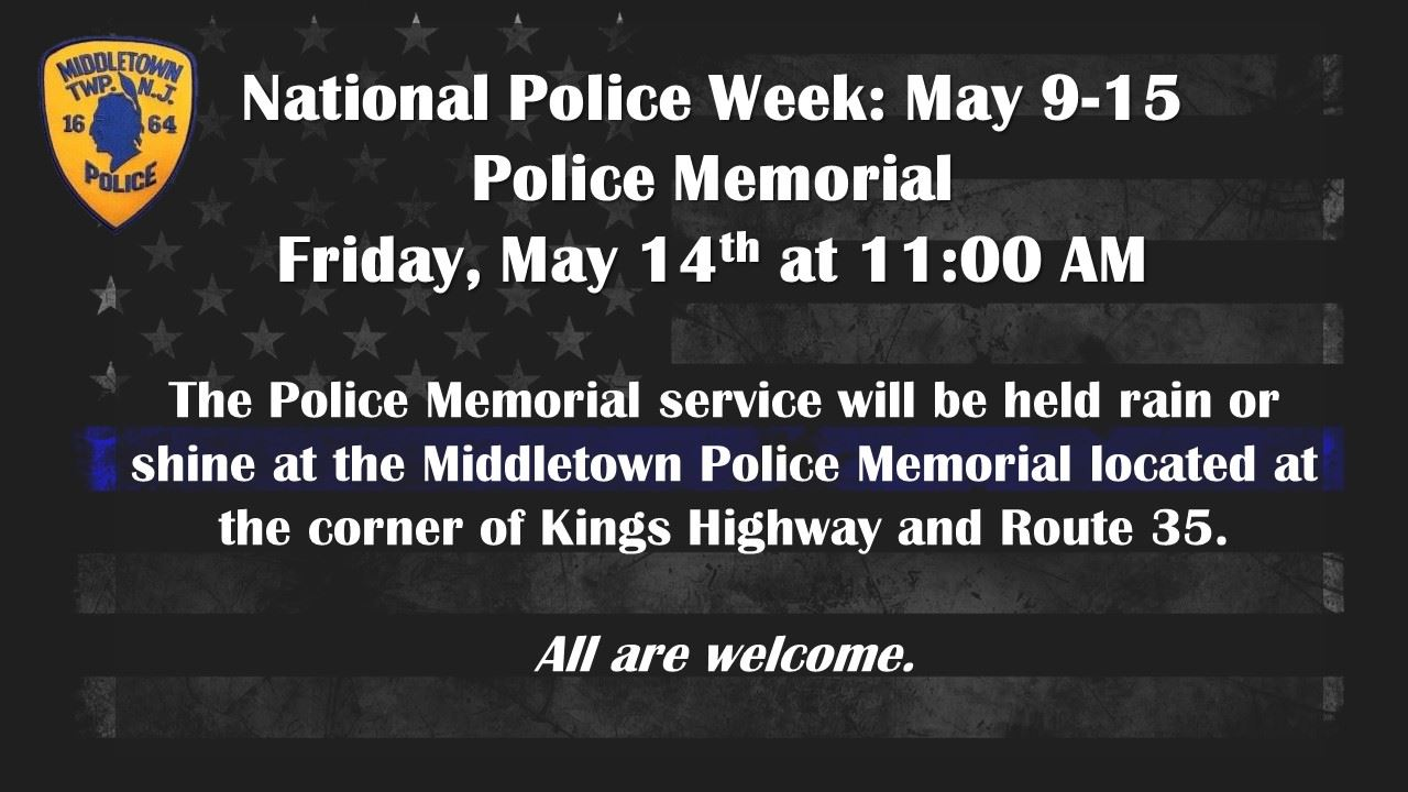 National Police Week and Memorial Service 2021