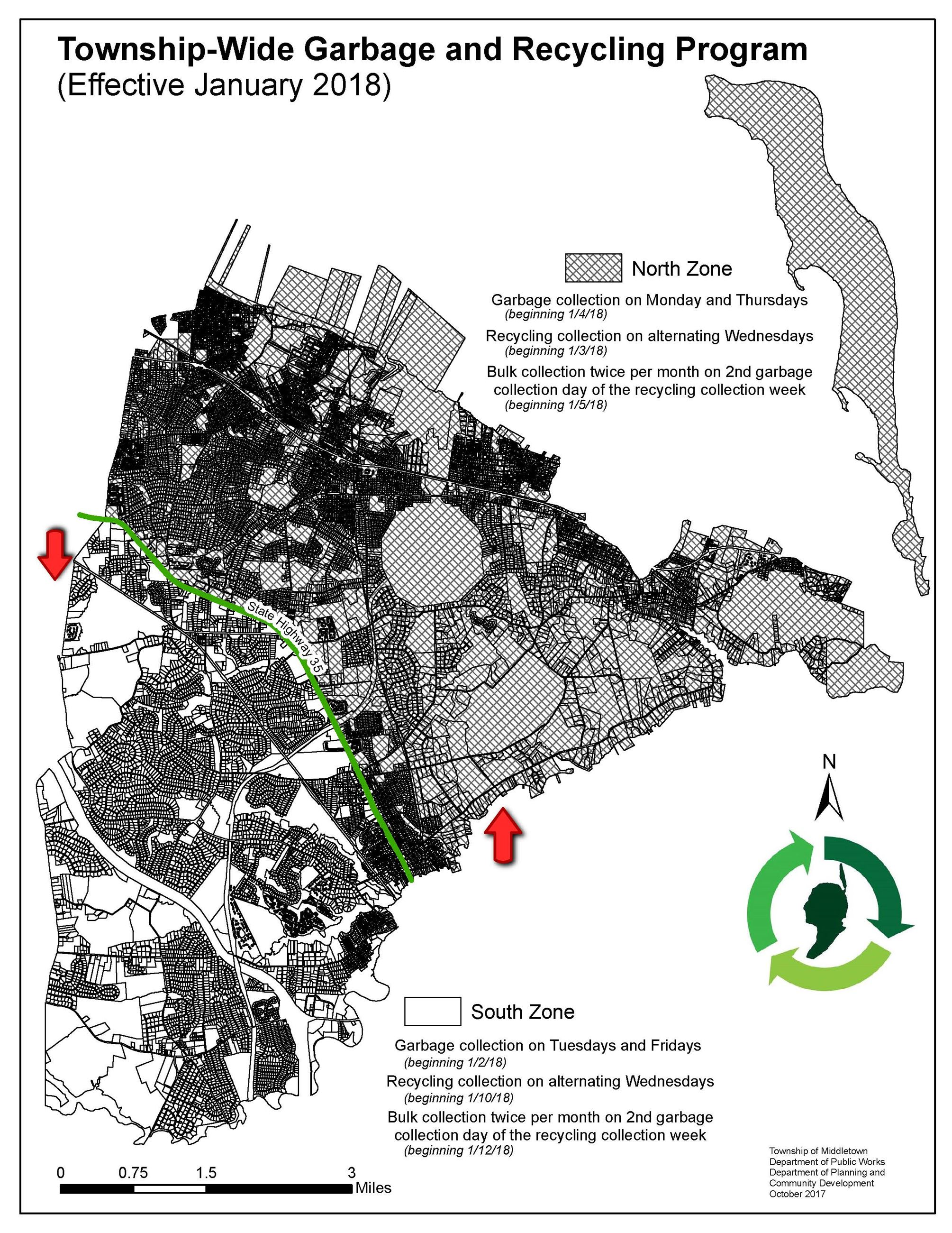 2018 Garbage and Recycling Zone Map
