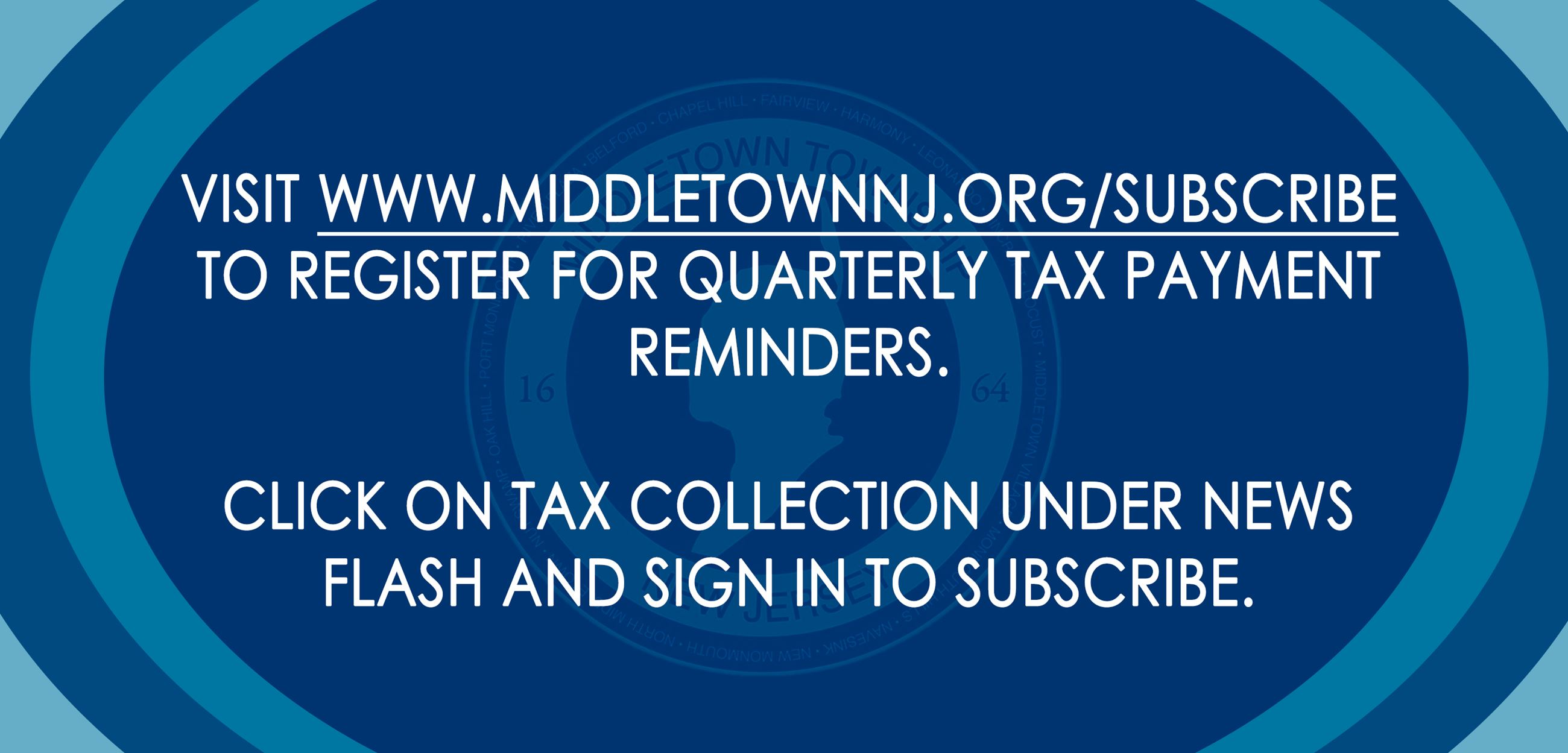 Quarterly Tax Payment Alerts